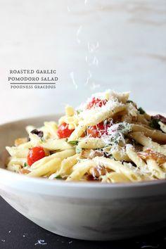 Roasted Garlic Pomodoro Pasta Salad with a Dijon Mustard Dressing   Foodness Gracious