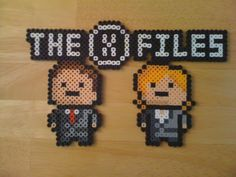X-Files perler beads by Two Wallet Alter