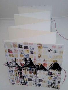 Handbound concertina sketchbook  by Fiona Wilson 10cm x 10cm http://fionawilson.wix.com/fionawilson