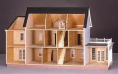 The Montclair Dollhouse Kit Smooth Plywood