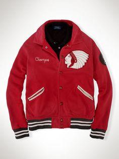 Ralph Lauren Polo Fleece Baseball Jacket $120.00