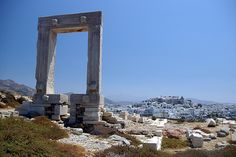 Temple of Apollo on the isle of Naxos Naxos Greece, Greek Islands, Marina Bay Sands, Places Ive Been, Temple, Travel Destinations, Beautiful Pictures, Passport Stamps, Apollo
