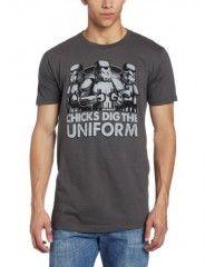 'Chicks Dig The Uniform' T-Shirt, Funny, Storm, Trooper, Star Wars, Parody, Tee