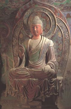 """Your suffering is my suffering and your happiness is my happiness."" - Buddha (Buddha from Dunhuang. Mid-Tang period (713-765).)"