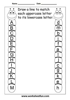 Letter Tracing Worksheets For Kindergarten – Capital Letters – Alphabet Tracing – 26 Worksheets / FREE Printable Worksheets – Worksheetfun Preschool Kindergarten, Preschool Learning, Preschool Activities, Free Preschool, Preschool Letters, Learning Letters, 5 Year Old Activities, Letter Recognition Kindergarten, 3 Year Old Preschool
