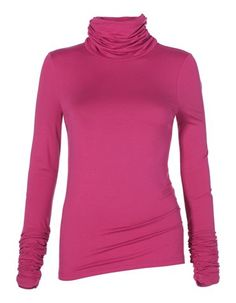 Polo neck top in Pink.