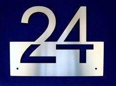 ORIGINELLE Hausnummer aus Edelstahl