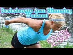 Bachelorette Arm Slimming Workout Video – Inspired by The Bar Method from sarahfit Easy Daily Workouts, Toning Workouts, Home Workout Videos, At Home Workouts, Fitness Tips, Fitness Motivation, Health Fitness, Fitness Inspiration, Bar Workout