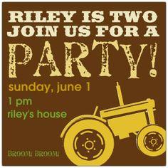 Shop for Boy Birthday Invitations. 4th Birthday Parties, 3rd Birthday, Birthday Cakes, Birthday Ideas, Custom Invitations, Invites, Tractor Birthday Invitations, Farm Party, Birthday Board
