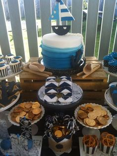 Nautical meets Pirate Birthday Party Ideas | Photo 12 of 70 | Catch My Party
