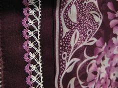 Crochet Edgings And Borders Dance of white and violet, very good designed Crochet 101, Crochet Hook Set, Learn To Crochet, Crochet Ideas, Crochet Borders, Crochet Patterns, Crochet Edgings, Easy Crochet Projects, Crochet Scarves