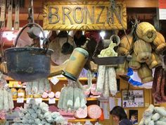 Tuscan delights at the huge food market Mercato Centrale in Florence