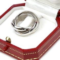 cartier trinity ring | Cartier Platinum Trinity Rolling Ring