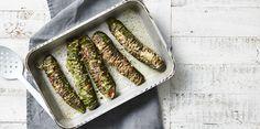 Hasselback Zucchinis 3 Ways via @iquitsugar