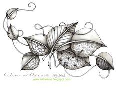Resultado de imagem para 78 best images about zentangle pog Zentangle Drawings, Doodles Zentangles, Doodle Drawings, Doodle Art, Doodle Designs, Doodle Patterns, Zentangle Patterns, Tangle Doodle, Tangle Art