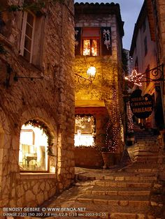 St. Paul de Vence, France -- I wasn't lucky enough to be there at night ... I'll pencil that in for my next trip!