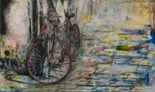 Cuadro bicicleta en la calle (bept1025)