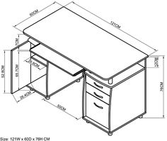 Office Desk Size Digihome