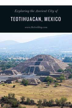 Exploring the ancient city of Teotihuacan, Mexico.  There are 3 main complexes - the Pyramids of the Sun, Pyramid of the Moon & Pyramid of the Feathered Serpent. The Pyramid of the Sun is the third largest in the world.  The city can be explored from Mexico City and you don't need a tour to do this. Teotihuacan Pyramids.  Teotihuacan, Mexico City.  Teotihuacan Complex.  Teotihuacan without a tour.