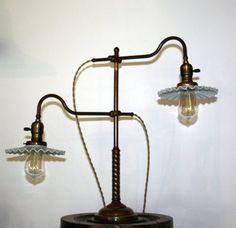 Vintage Antique industrielle Faries Double bras par HindsStudio