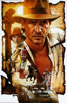 Indiana Jones and the Last Crusade - Pepsi Promotional Art (Alternate)  | Art by Drew Struzan - website: www.DrewStruzan.com