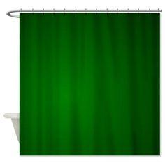 Hunter Green gradient Shower Curtain
