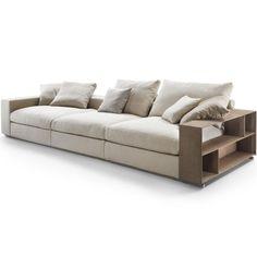 Sofá Groundpiece - Flexform Sofa Set Designs, Sofa Design, Interior Design, Lounge Sofa, Sofa Chair, Couch, Sofa Shelf, New Living Room, Sleeper Sofa