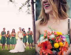 gorgeous green bridesmaids dresses | CHECK OUT MORE IDEAS AT WEDDINGPINS.NET | #weddings #bridesmaids #bridal #dresses #fashion #forweddings