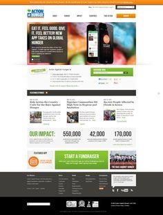 Action Against Hunger | Nonprofit Website Design