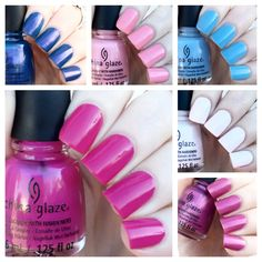 cat eyes & skinny jeans: China Glaze Roommates 6-Piece Mini Set Swatches + Review