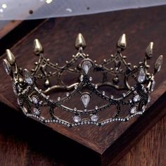 Excited to share this item from my shop: Black Crystal Drop Luxury Round Queen Wedding Crowns King Bridal Tiaras Rhinestone Diadem Head Jewelry Hair Accessories Headpiece Jewelry, Head Jewelry, Wedding Jewelry, Jewelry King, Black Rhinestone, Crystal Rhinestone, Bride Tiara, Crystal Crown, Tiaras And Crowns