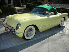 Harvest Gold Corvette - 1955