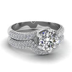 white-gold-round-white-diamond-engagement-wedding-ring-in-prong-set-FDENS2039RO-NL-WG