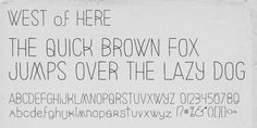West Of Here™ font download