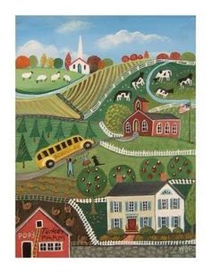graceful moments: Autumn Nostagia and American Folk Art Paintings