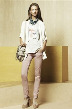 Gap ss12  want the blush colored jeans...would look cute with all the lady-like tops for spring