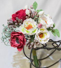 Купить Интерьерный букет с анемонами. - комбинированный, анемоны, интерьерная композиция, букет невесты, букет в подарок