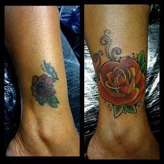 Cobertura!! #coverup #tattoocoverup #lovemywork #valentinesday #ratariastudio