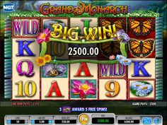 Beautiful flora and fauna with bright colors dominate the reels of the Grand Monarch slot.http://www.slotreviewonline.com/2013/12/igt-grand-monarch-slot-machine-review/
