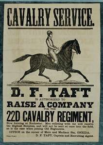 Taft Civil War Recruiting Poster