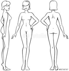 human body outline side view - Google Search
