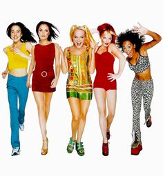 Only Spice Girls! Spice Girls, Ginger Spice Costume, Mode Old School, Black 90s Fashion, Style Année 90, Early 2000s Fashion, Baby Spice, Girls Rules, Girl Bands
