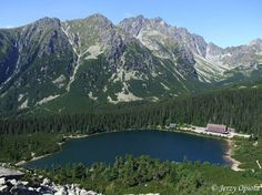 Štrbské Pleso is a beautiful glacial lake in the High Tatras National Park and one of the most visited tourist destinations in Slovakia. High Tatras, Most Visited, Great Pictures, Cool Places To Visit, National Parks, Europe, Mountains, Nature, Travel