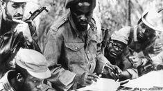 Guerrilheiros na luta anti-colonial em setembro de 1969 (fotografia de arquivo da União Soviética) - muitas vítimas do 27 de maio eram antigos combatentes da luta contra o colonialismo português