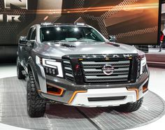 Based on the imposing Nissan TITAN XD, the TITAN Warrior raises the stakes by raising its height almost and its width by It rocks ginormous Nissan Trucks, Suv Trucks, Suv Cars, Pickup Trucks, Best Off Road Vehicles, 2017 Nissan Titan, 6x6 Truck, Sport Suv, Nissan Xterra