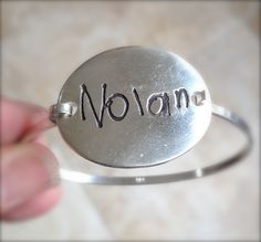 Your Childs First Signature Silver Bracelet In by surfingsilver