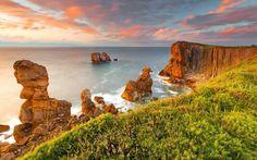 Terra/Natureza Penhasco  Landscape Scenic Ocean Sand Sunset Sky Cloud Nature GAD Papel de Parede