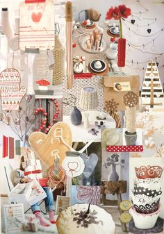 Beige/White/Red tone Images - Mood Board. Inspiration.