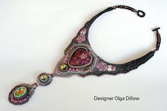 The Embroidery Necklace Star Dust от Olgaterranova на Etsy