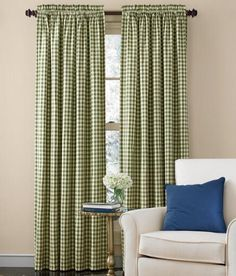 Cabin Check Rod Pocket Curtains Was: $44.95 - $69.95                         Now: $35.96 - $55.96
